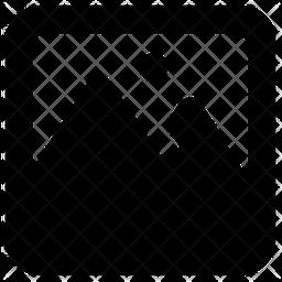 Landscape Glyph Icon