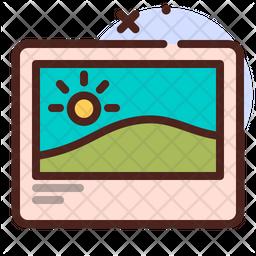 Landscape Colored Outline Icon