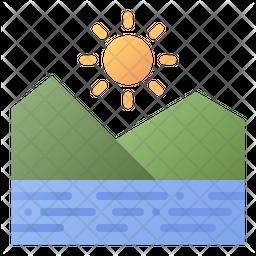 Landscape Gradient Icon