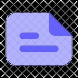Landscape-text-file Icon