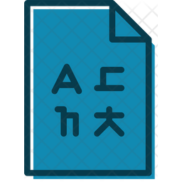 Language Document Colored Outline Icon