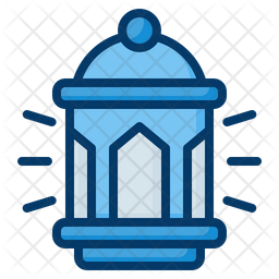 Lantern Colored Outline Icon