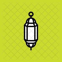 Lantern Glyph Icon