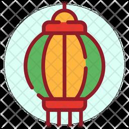 Lantern Festival Colored Outline Icon