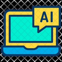 Laptop Ai Icon