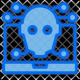 Laptop Brain Icon