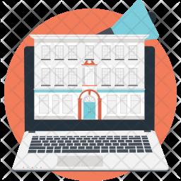 Laptop building Icon
