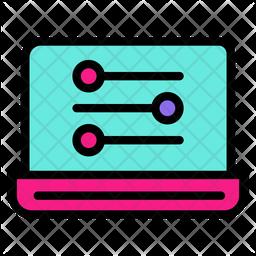 Laptop Control Icon