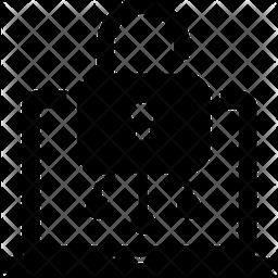 Laptop Encryption Glyph Icon