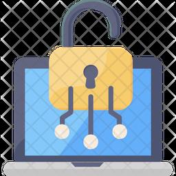 Laptop Encryption Flat Icon