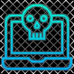 Laptop hacker Icon