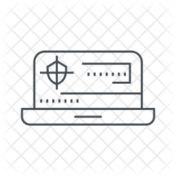 Laptop hacking Icon