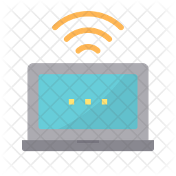 Laptop hotspot Icon