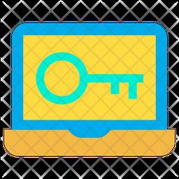 Laptop Key Icon