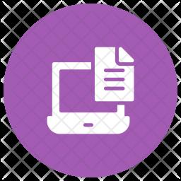 Laptop Notes Glyph Icon