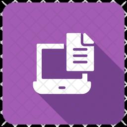 Laptop Notes Icon