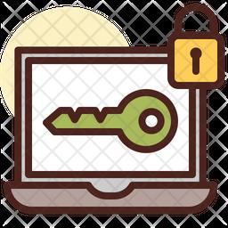 Laptop Password Icon