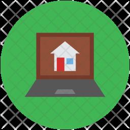 Laptop screen Flat Icon