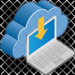 Laptop Storage Isometric Icon