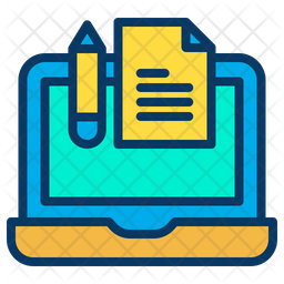 Laptop Study Note Icon
