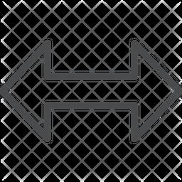 Large Horizontal Arrows Icon