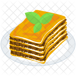 Lasagna Food Platter Icon