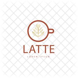 Latte Colored Outline  Logo Icon