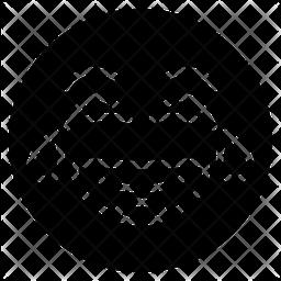 Laughing Glyph  Emoji Icon