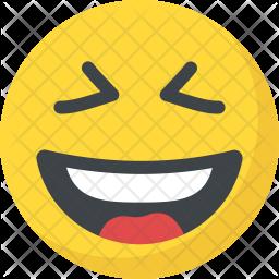 Laughing Flat Icon