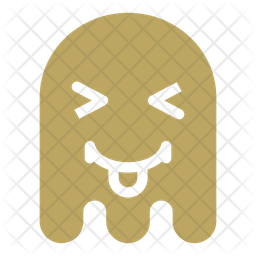 Laughing ghost Flat  Emoji Icon