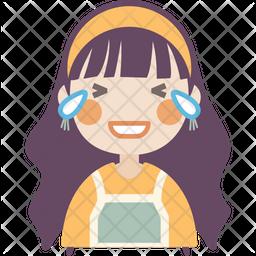 Loud Laughing Girl Icon