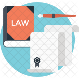 Law book Flat Icon