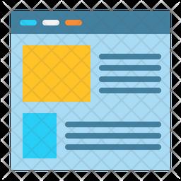 Layout Flat Icon