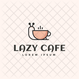 Lazy Cafe Colored Outline  Logo Icon