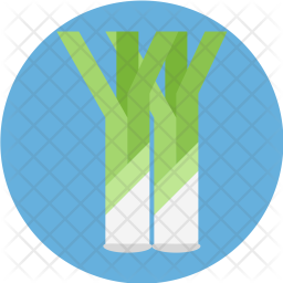 Leek, Roots, Food, Nutritious, Vegetable, Healthy Icon