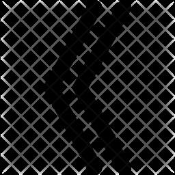 Left Arrow Glyph Icon