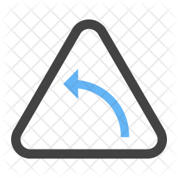 Left hand curve Icon png