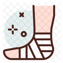 Leg Injury Icon