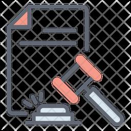 Legal Document Line Icon