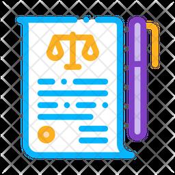 Legal Document Icon