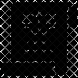 Legal Document Glyph Icon