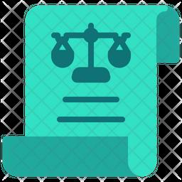 Legal Document Flat Icon