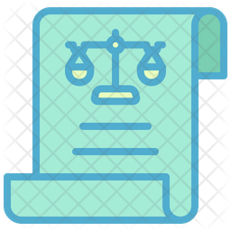 Legal Document Colored Outline Icon