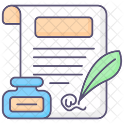 Legal paper Colored Outline Icon