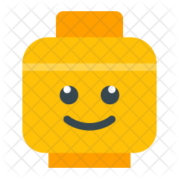 Lego head Icon of Flat style - Available in SVG, PNG, EPS ...