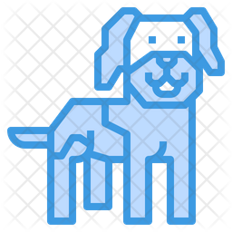 Leonberger Dog Colored Outline Icon