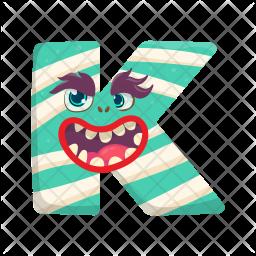 Letter K Monster Icon