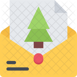 Letter, New, Year, Christmas, Winter, Holidays Icon