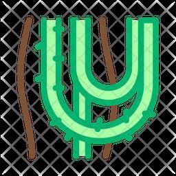 Liana Plant Colored Outline Icon