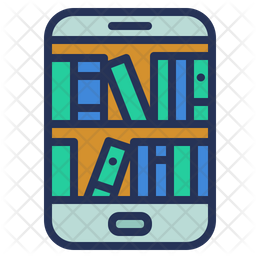 Library Colored Outline Icon